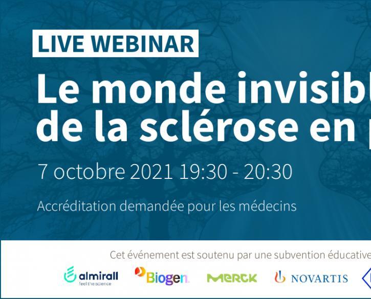 Live webinar 'Le monde invisible de la sclérose en plaques'