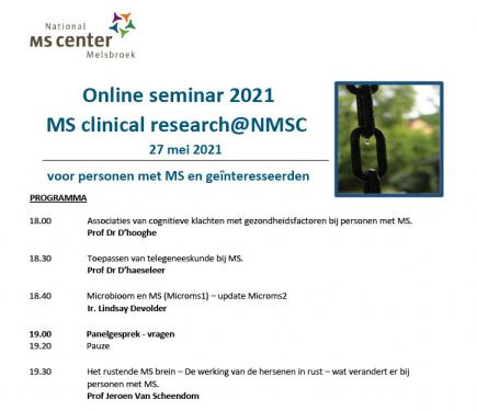 Online seminar 2021 - MS Clinical Research@NMSC